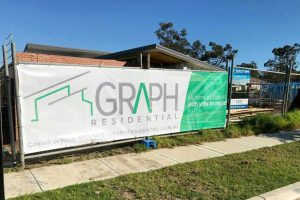 Site fence signage for Graph Residential